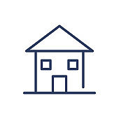 Traditional home thin line icon