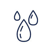 Water drops thin line icon