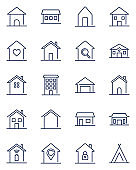Home line icons set