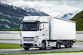 White cargo truck