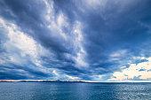 Dramatic morning sky on the Adriatic Sea.