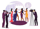 Fashion Designer Interview Vector Illustration