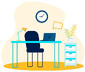Empty Office Place for Managers or Freelancers