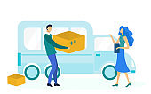 Express Delivery Service Flat Vector Illustration