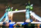 Tower Bridge in London - Long exposure glitch