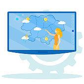 Informative Flyer Broadcast Weather Forecast.