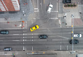 City intersection from directly above