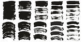 Flat Paint Brush Thin Long & Curved Background Ultra Mix High Detail Abstract Vector Background Ultra Mix Set