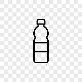 Plastic bottle icon vector. Water bottle sign