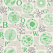 seamless pattern on a medical scientific theme