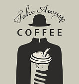 creative vector banner for a take away coffee