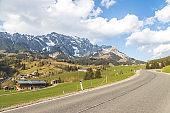 Idyllic Alpine Mountain Range: Hochkönig mountain in Salzburg, Austria