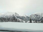 Beautiful snow-landscape