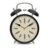 tired hungry tired hungry clock
