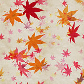 Autumn leaves, seamless background