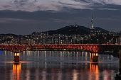 seongsu bridge and namsan tower