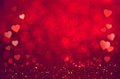 Red Hearts background. Valentines day concept. copy space.