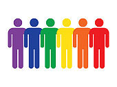 People icon in lgbt colors
