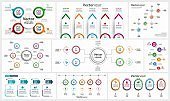 Colorful infographic collection, can be used for workflow layout, diagram, number options, web design