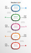 Business vector infographic with 5 steps