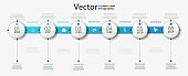 Vector  infographic design template with  6 steps