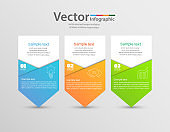 Infographics design  with 3 options, steps or processes