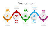 Timeline infographics design vector   with 5 steps