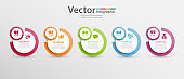 Vector infographics template with 5 steps, options, workflow, process chart