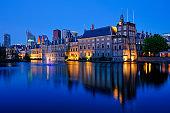 The Hague's Binnenhof with the Hofvijver