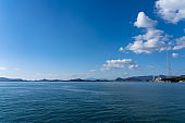 Islands of the Seto Inland Sea. Japan