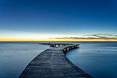 Sea shore scenic walkway bridge
