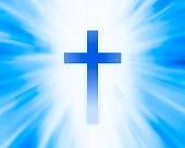 Cross background, Religious Cross, Worship background with rays