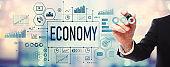 Economy with businessman