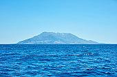 Greek island - Samothraki or Samothrace in northern Aegean sea of Mediterranean.