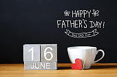 Fathers Day message with coffee cup