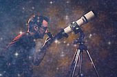 Space, cosmos and universe, Milky way stars. My astronomy work.