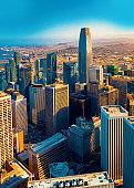 Downtown San Francisco aerial view