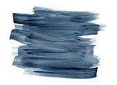 Deep indigo blue watercolor brush strokes