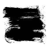 Expressive square textured black ink stain