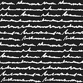Black and white hand written text pattern