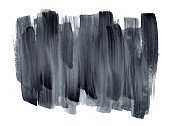 Expressive gradient gray watercolor brush strokes