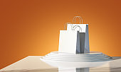 Blank paper bags template for marketing presentation