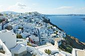 Firostefani village on Santorini island, Greece