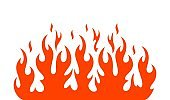 Fire flame logo. Isolated fire flame on white background