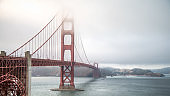 Golden Gate Bridge on a misty day, San Francisco, USA