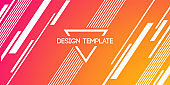 Abstract creative background, banner with lines, stripes.