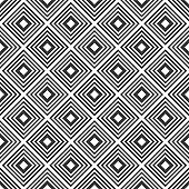 Abstract seamless geometric rhombuses pattern. Repeating geometric tiled ornament.