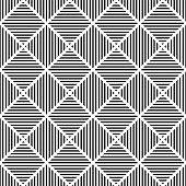 Abstract seamless geometric striped rhombuses pattern.
