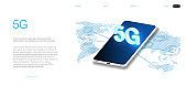 Global network high speed innovation connection data rate technology vector illustration  5G new wireless internet wifi connection.