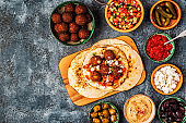 Falafel - traditional dish of Israeli and Middle Eastern cuisine